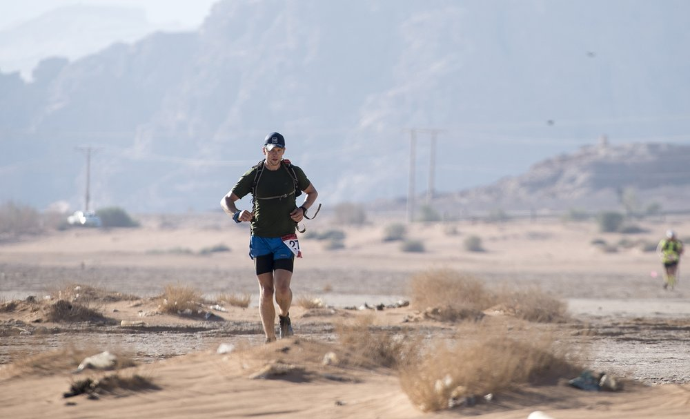 Running through the Wadi Rum Desert