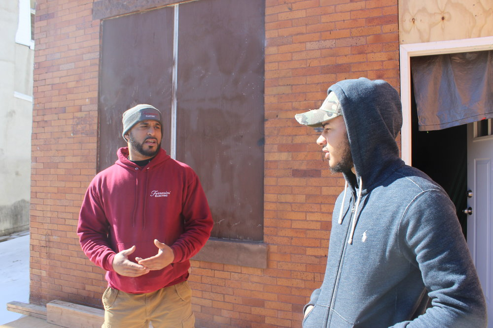 "Director Jordan Parisse Ferrarini engaging a mentee for a 1 on 1 ""Power Talk"" during a ""Contractor Walk & Talk Session""."