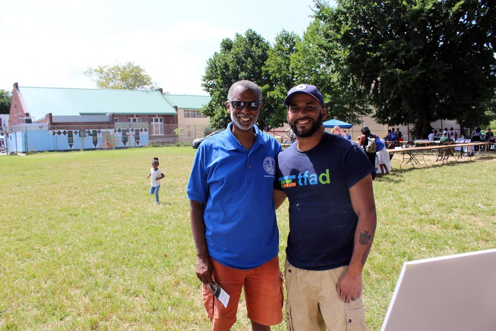 "Another successful TFAD ""Pencil Box Project"" in part with Senator Art Haywood's Back to School Festival in Germantown Philadelphia."