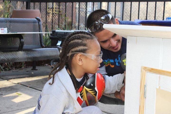Trades for a Difference had a blast building little library's and promoting literacy while teaching  carpentry skills at Go Mt. Airy's Autumn on the Avenue
