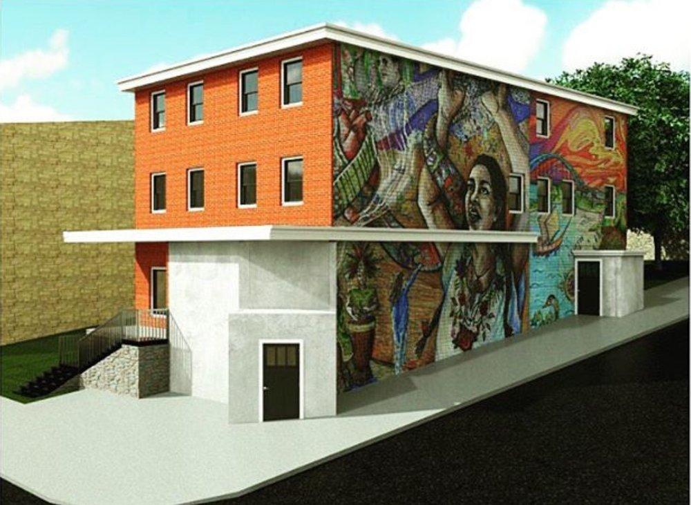 ****Rendering is conceptual, not actual mural.