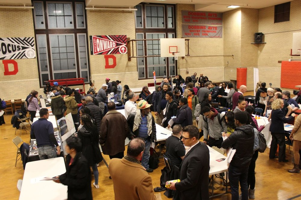 TFAD was in attendance doing our part and raising awareness about the opportunities in the Trade Industry.We were successfully able to register 47 youth for our our follow -up information session.CTE Fair at Dobbins Vocational School, Philadelphia, PA