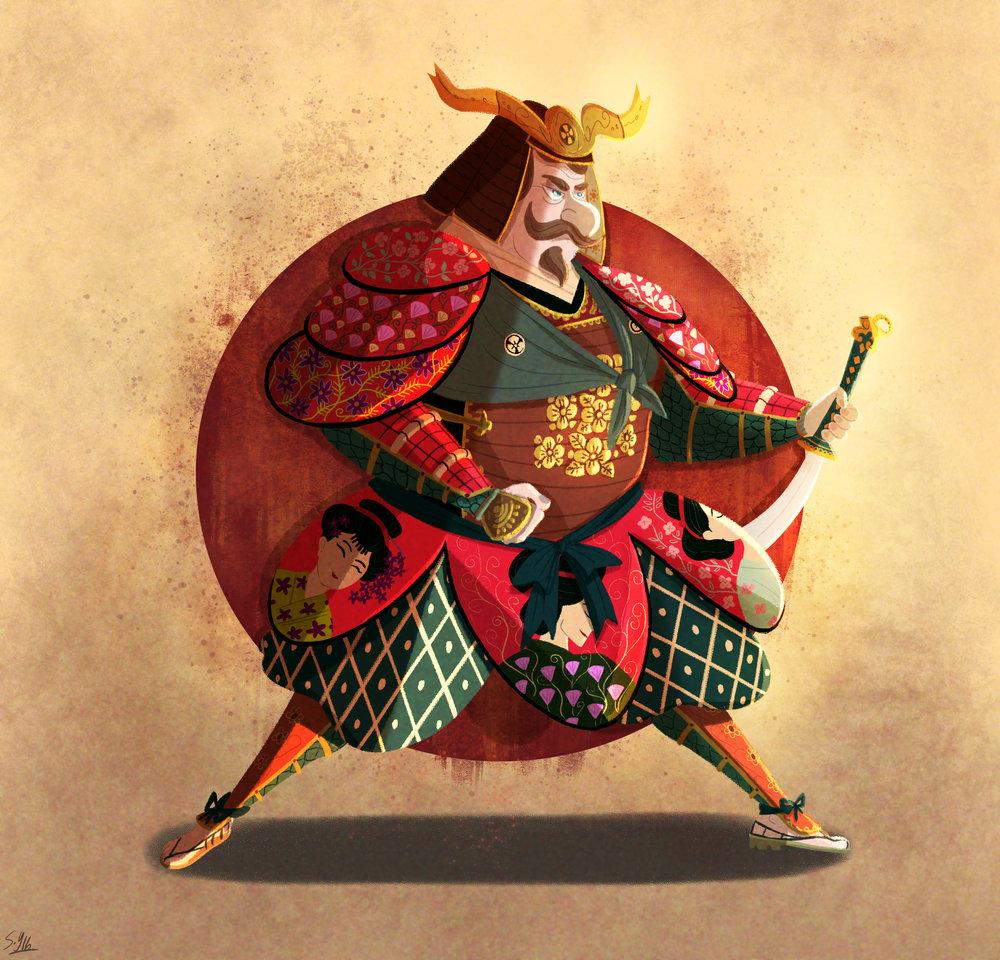 A samurai, lady-man warrior!