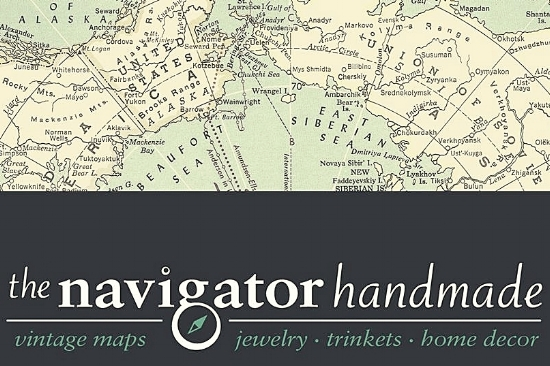 THE NAVIGATOR HANDMADE Melanie Kielich, is an avid thrifter with an artistic eye and a creative streak; she loves to re-purpose found and vintage materials and give them new life.
