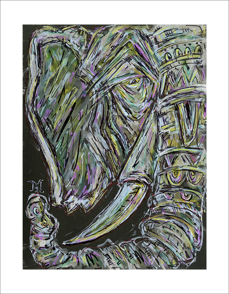Elephant Decorated in Gems 24x18 - 36x28.jpg