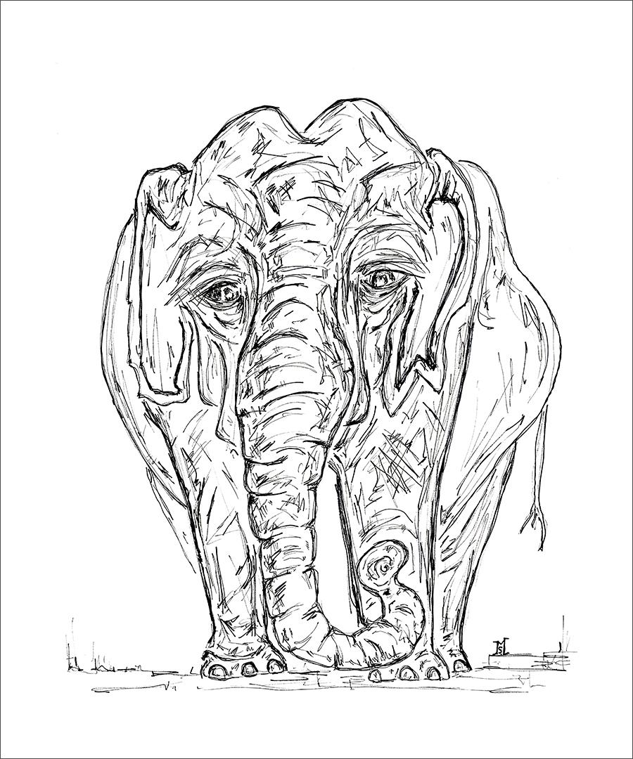 Quaker Street Cafe Elephant
