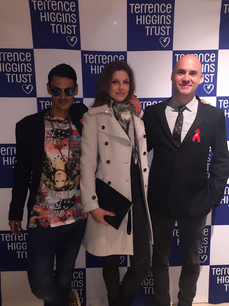 Terrence Higgins Trust 2017 - Dd Regalo and Paul Robinsom with Laura Pivetta, ArteMea CEO