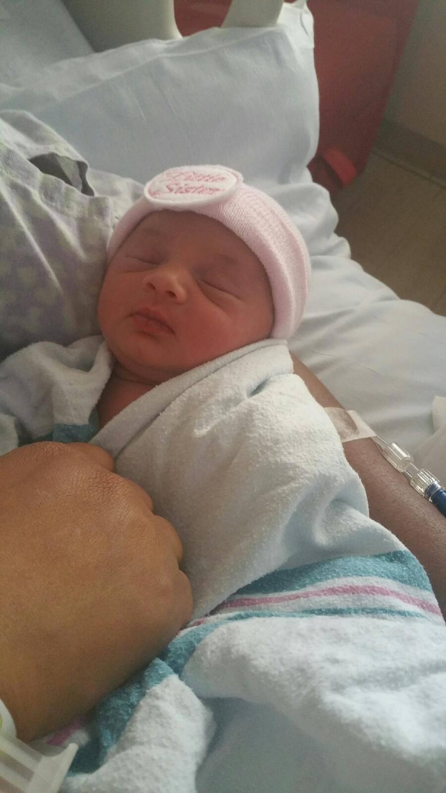 Newborn Yuri (exactly a year ago today!)