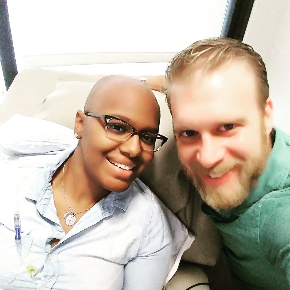 Khim and her husband, David, during a chemo treatment.