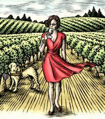 The beautiful label on Alex Elman Wine!
