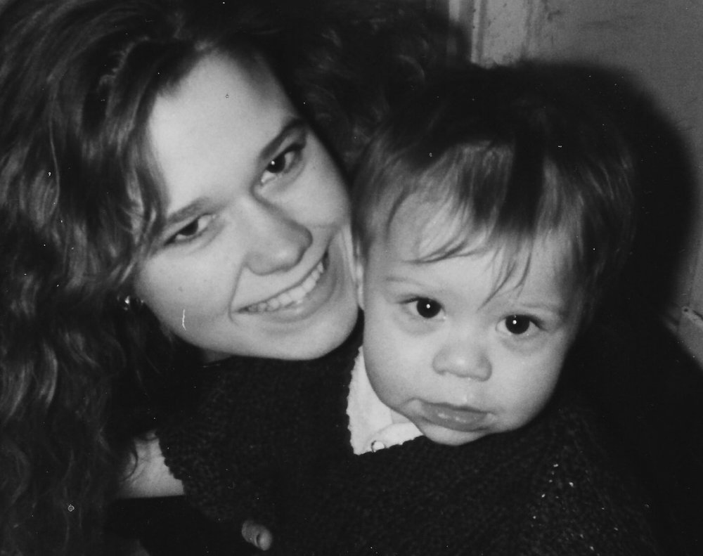 Kimberly and her son, Jon in 1992