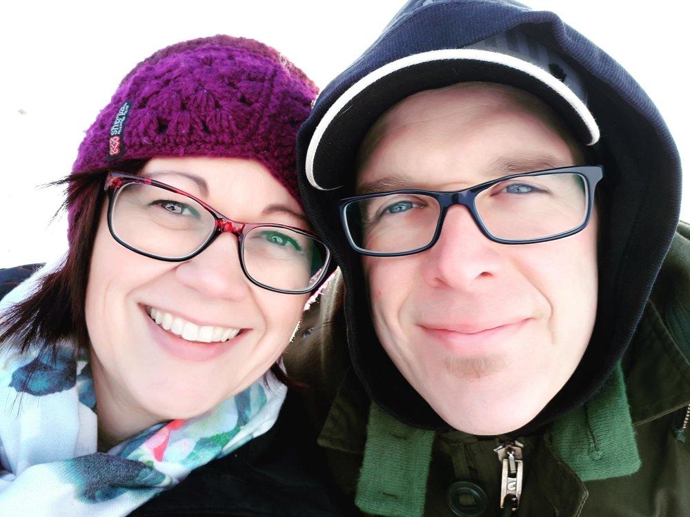 Kim and her husband, Regan.