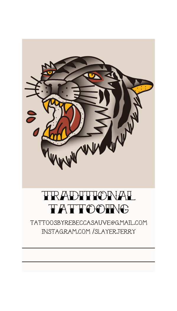 Business card for a tattoo artist.   2012.
