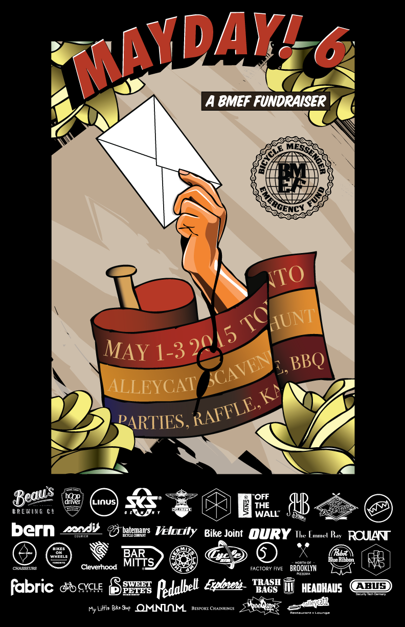 Poster for the BMEF Fundraiser, Mayday! 6.  2015.