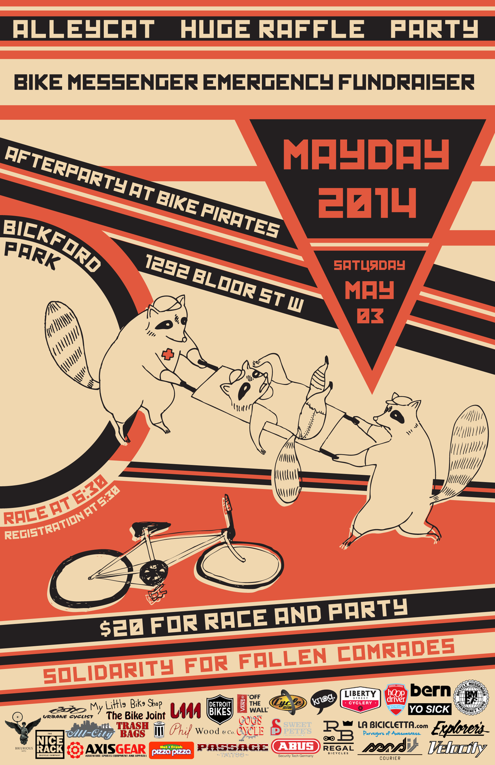 Poster for the BMEF Fundraiser, Mayday! 5.  2014.