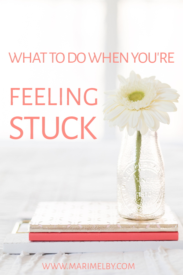 Helpful tips for what to do first when you're feeling stuck! Are you ready to feel amazing and connected with your true desires — it can be as simple as doing more of what energizes you and less of what drains you. Get more self-development tips and learn about designing a life you love at marimelby.com #selfcare #intuitiveliving #energyboost #selfcaretips #flourish