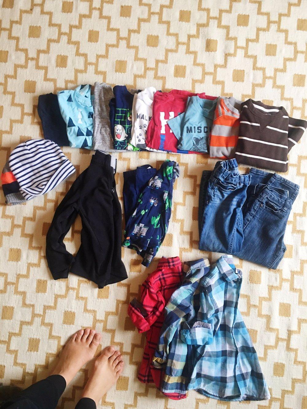 My 6-year-old's wardrobe