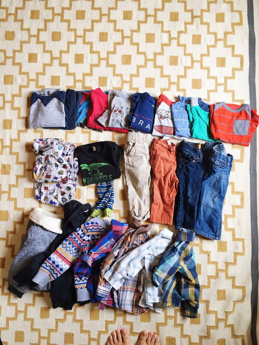 My 2-year-old's wardrobe.