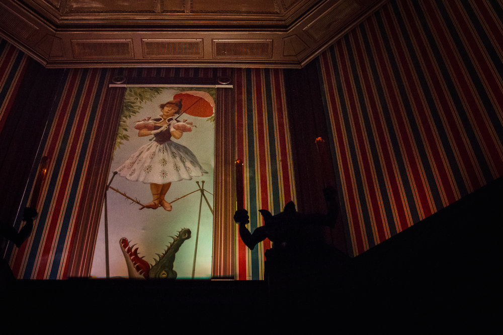 the stretching room / haunted mansion / magic kingdom