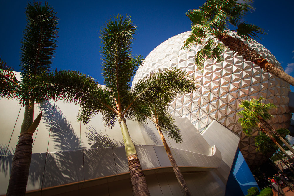 spaceship earth / future world epcot / like a grand and miraculous spaceship