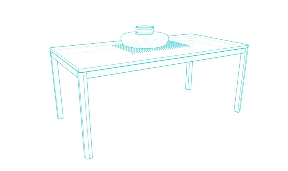 dining size - concrete top - wood base