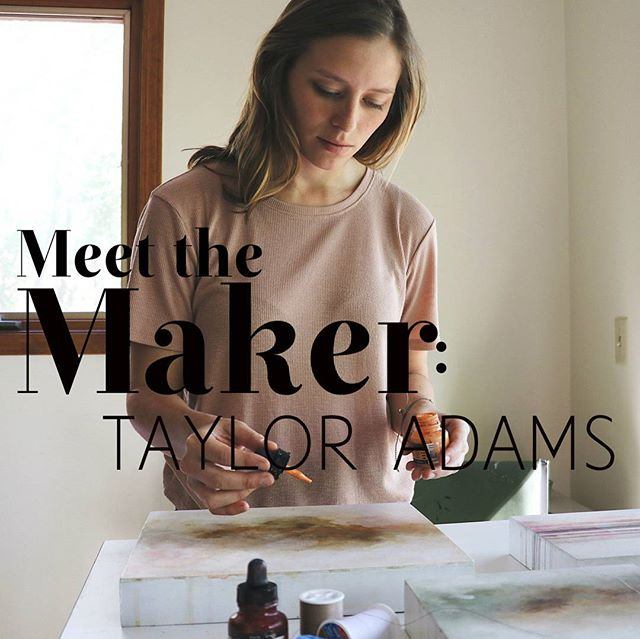 Meet the Maker is back!! Sometimes, beautiful things need time to sit before they can grow. So happy to be back at it featuring artists and their process, and no one better to start out with than @tayloradamsart! You can read her full interview on our blog, so check it all y'all! #cantikcollective