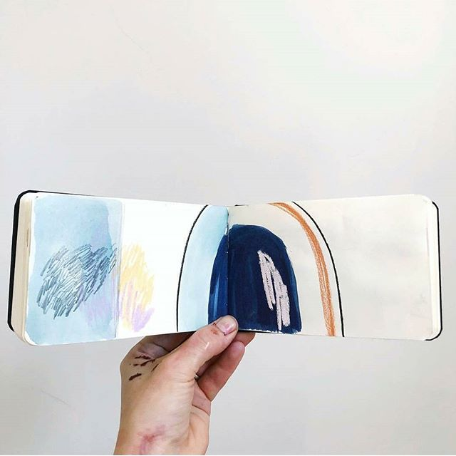 Sketchbook moments. Read about @amy_bramante as our latest maker on cantikcollective.com. #cantikcollective