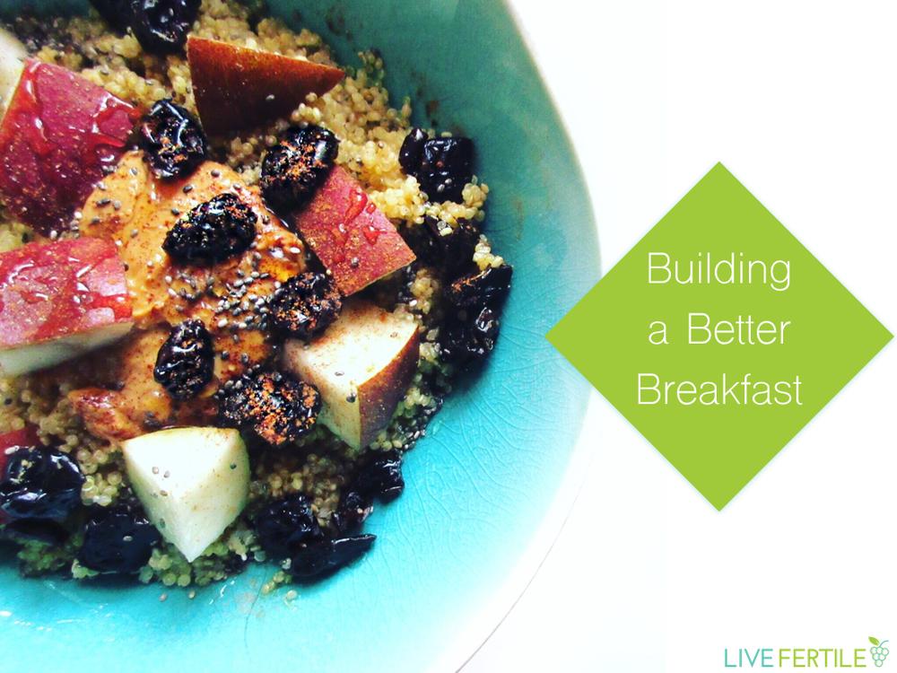 healthy breakfast fertility pcos nutrition diet pregnancy quinoa fruit peanut butter breakfast bowl