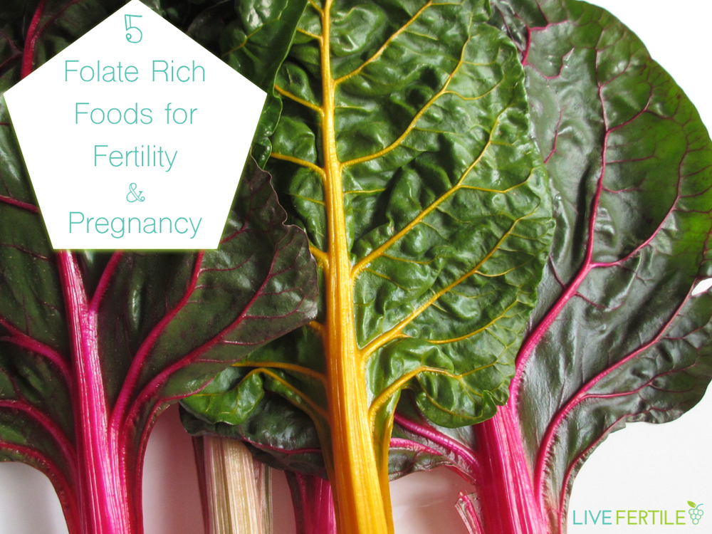 Five folate rich foods for fertility and pregnancy