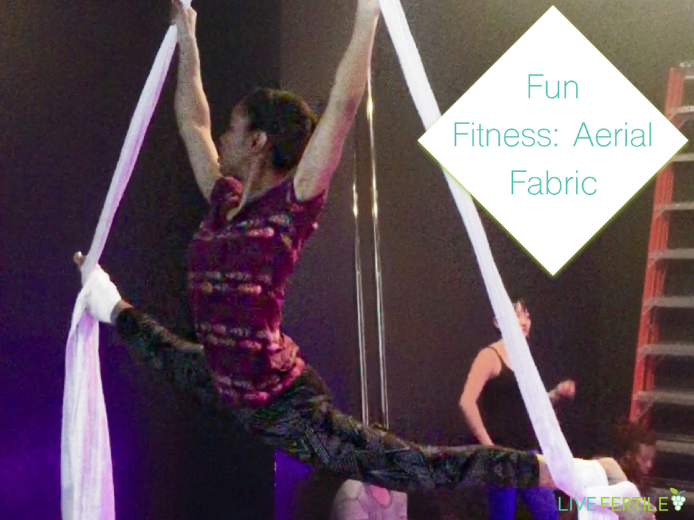 Kendra Tolbert on Aerial fabric in right splits