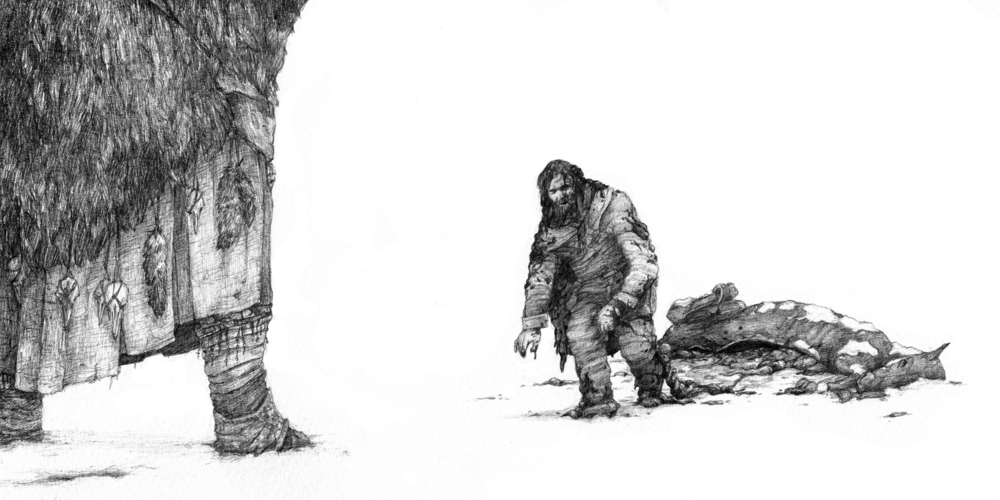 Original concept art by Emersen Ziffle for  The Last Crossing.