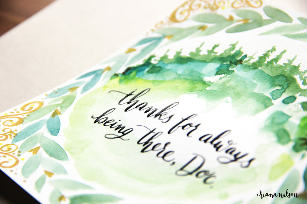 custom art + calligraphy cards