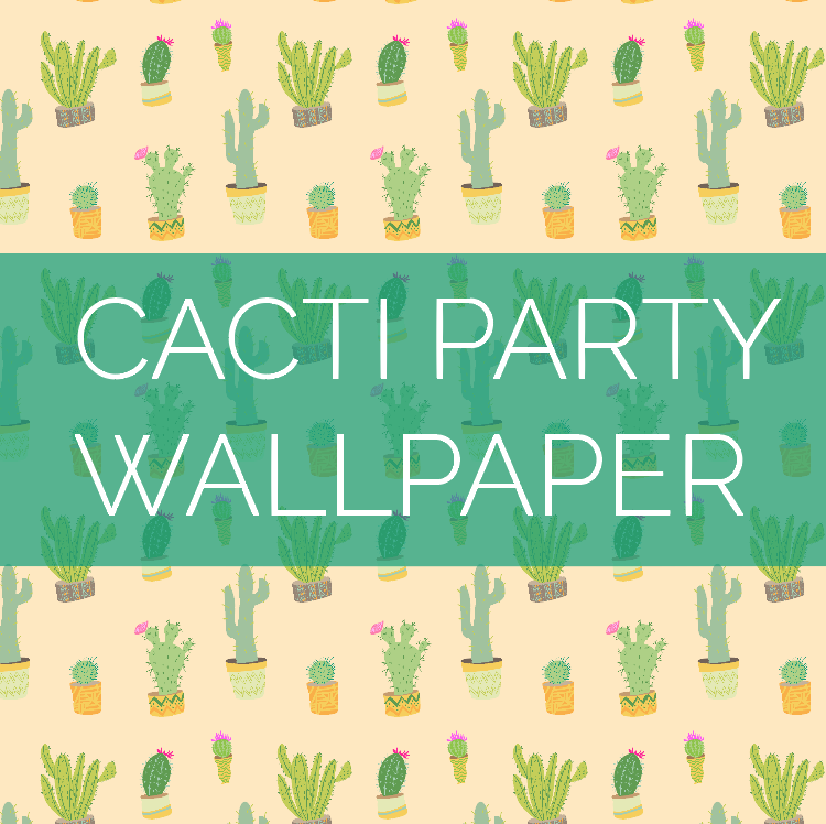 I created this #ArtByRiana cacti wallpaper for you to download, so your computer's desktop background can be sprinkled with a bit of summery goodness!