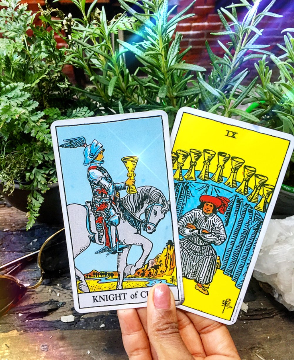 Knight of Cups & Nine of Cups