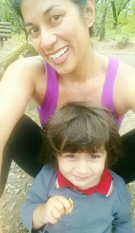 June 2014: Kamal and I right after a nice stroller run around Spring Lake.