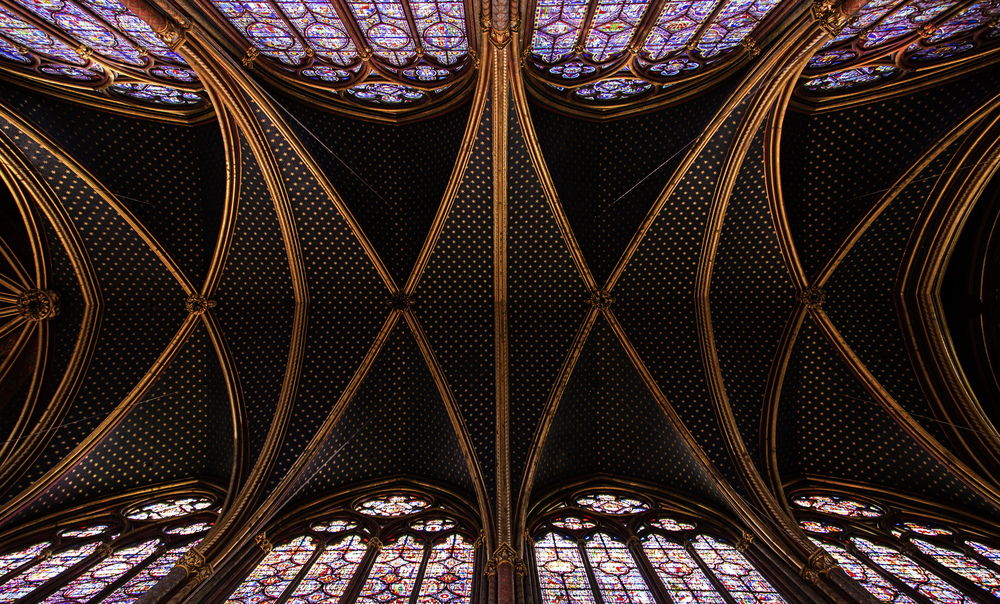 Sainte Chapelle Cathedral Ceiling