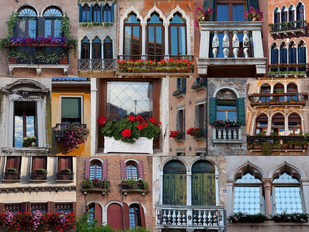 Travel Photography Windows of Venice