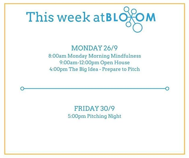 Monday Morning Mindfulness followed by Open House at BloomLab every week! 😃 Visit us at 9am every Monday to learn how you can work out of BloomLab, network with other young people and to find out about how Bloom can support you! #ThisWeekAtBloom #MondayMorningMindfulness #openhouse