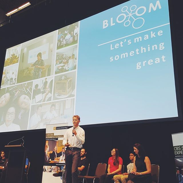 Today we had Curtin Bloom Committee Member Jack Williamson speak at the Curtin Business Undergraduate Orientation about the importance of Bloom in raising the entrepreneurial spirit of young Western Australians and his passion for emerging technologies! 🙌🏼 #curtinoweek #curtinlife #unilife #bloom