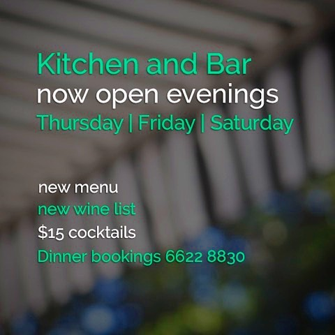 Come along and check out our delicious new dinner and wine menu, or call by for an after-work drink with friends. Bookings and drop-ins welcome.