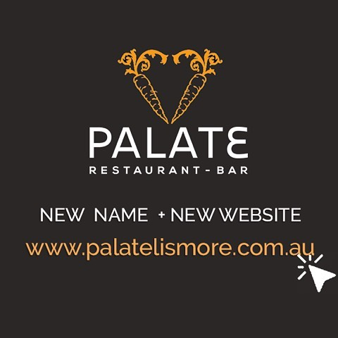 Since the @lismoreregionalgallery up and left for its fabulous new digs, we've been in need of a name change. Check out our new mobile friendly site www.palatelismore.com.au with our menus, monthly specials and information on catering and events. What do you think?