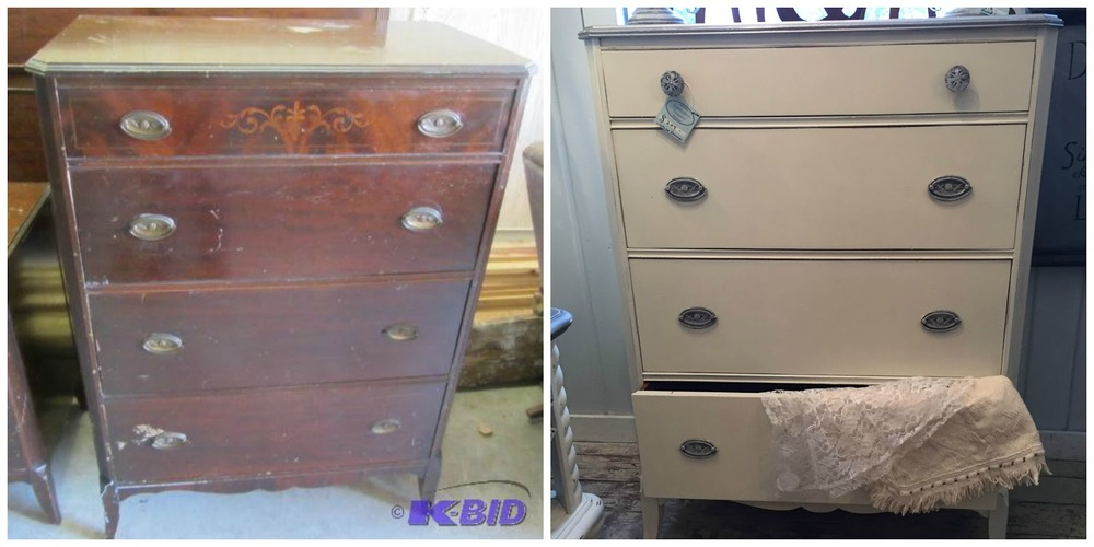 This chest of drawers received a makeover with Country Chic's 'Vanilla Frosting'