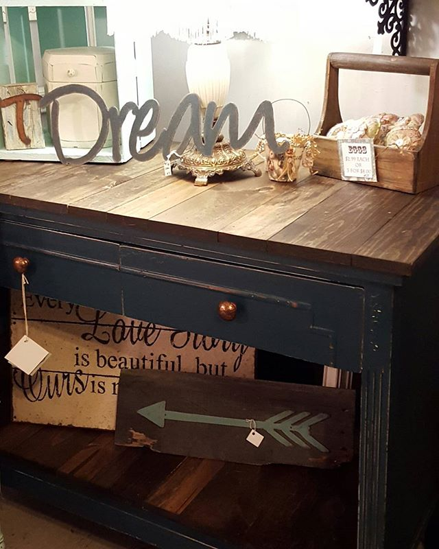 Look what we created out of an #antique #dresser. Can you say yummy. The colie is called Aurora from #countrychicpaint. We are open til 6pm if you want this beauty.. #paintedfurniture #refreshed #frenchcountry #farmhousestyle #decorating #onlyinmn #thursday #shoplocal #love #repurposed #wood