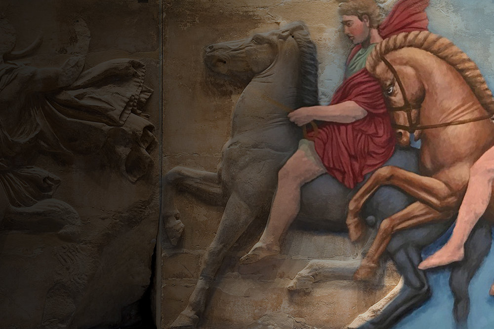 Reenvisioned  Join us for a film and discussion with Pavlos Samios  on the color and design of the Parthenon frieze.  Thursday, June 14th   Join Us
