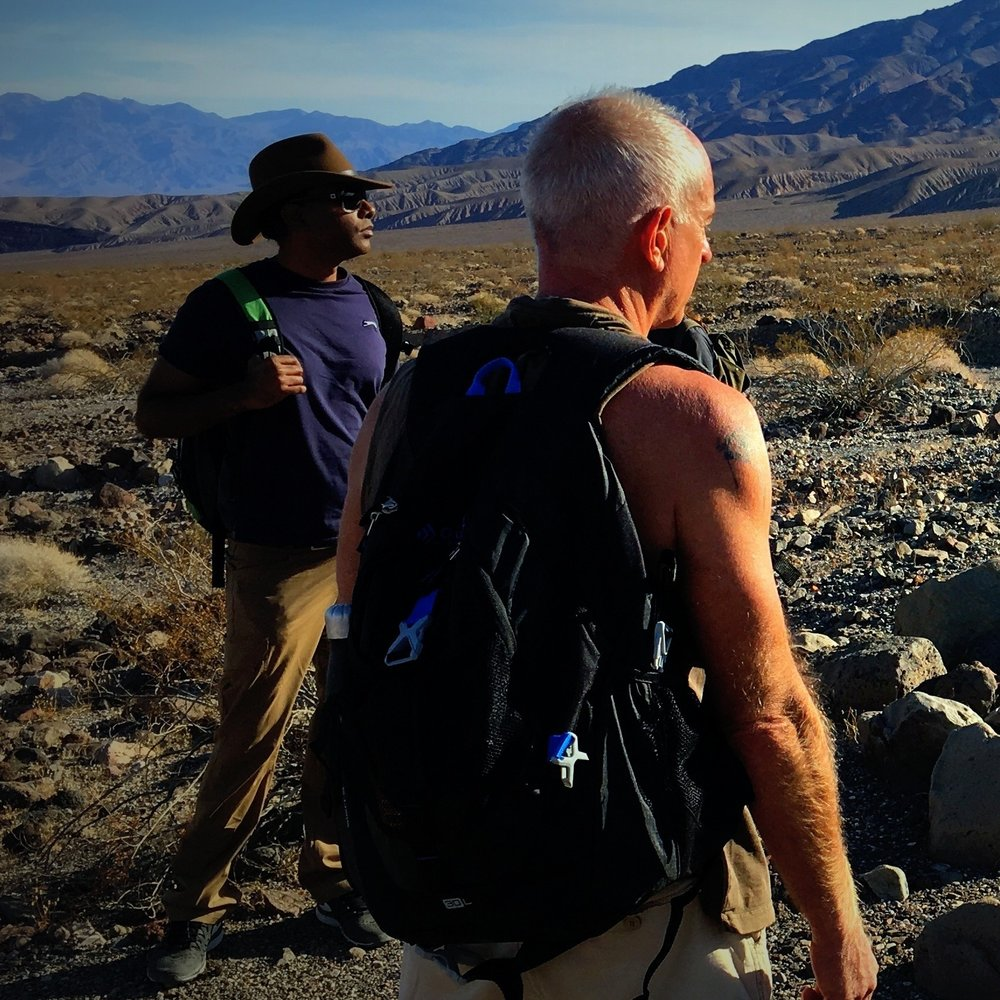 Tarek Statico and I during an Intensive I led in the desert during October 2016. Photo by Michael Author.
