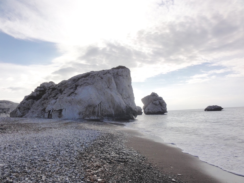 PETRA TOU ROMIOU ('APHRODITE'S ROCK'), IN PAFOS, CYPRUS.   CREDIT: By https://www.flickr.com/photos/mhoman (https://www.flickr.com/photos/mhoman/22542891025) [CC BY 2.0 (http://creativecommons.org/licenses/by/2.0)], via Wikimedia Commons.
