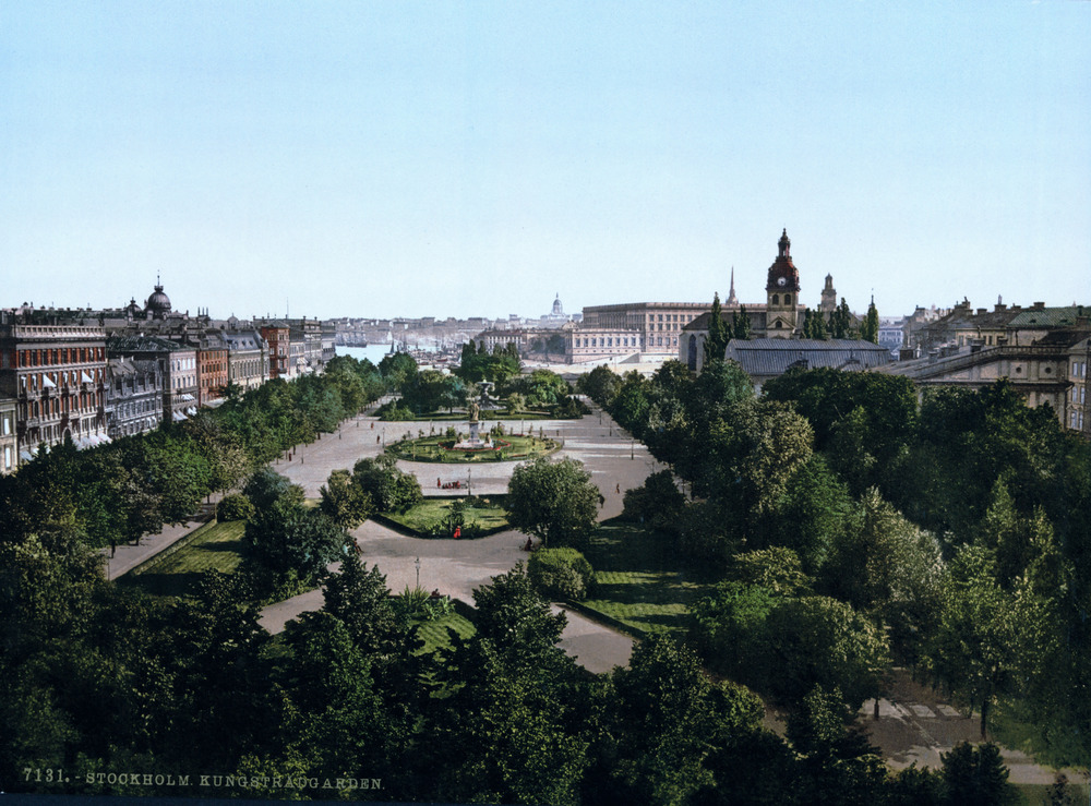 A Late 19th Century Postcard image of Kungsträdgården, Stockholm, currently administered by the Stockholm Chamber of Commerce.  Credit:  U.S. Library Of Congress Reproduction LC-DIG-PPMSC-06230 .