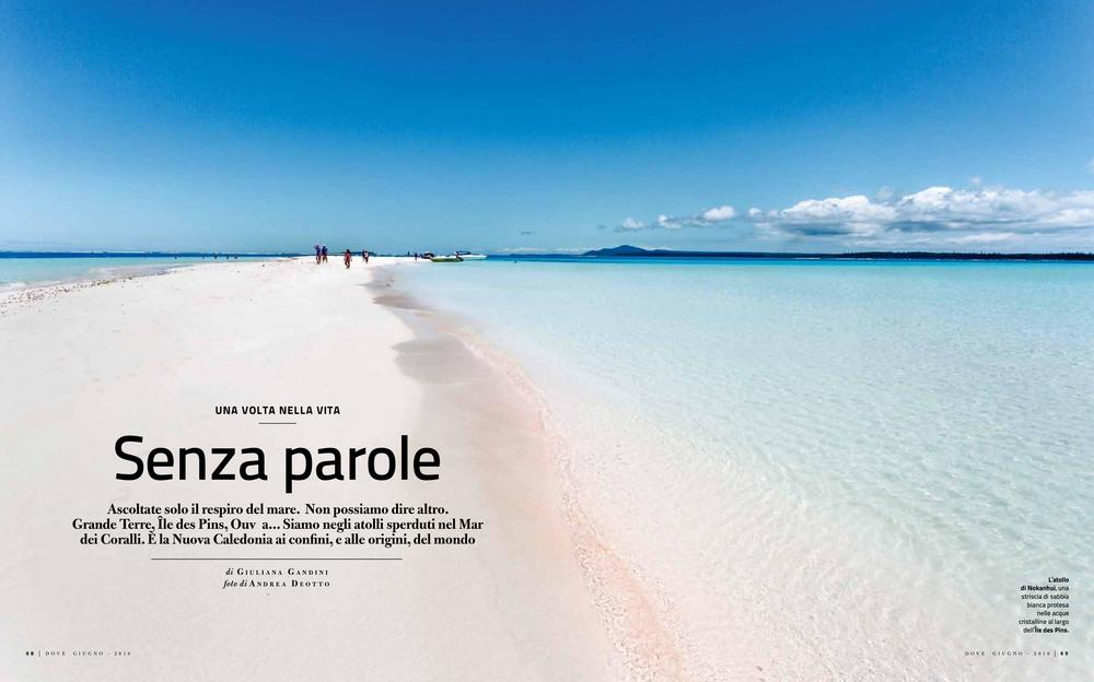 Opening Spread of the reportage on New Caledonia