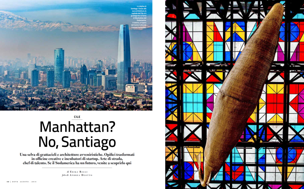Opening Spread of the reportage on Santiago