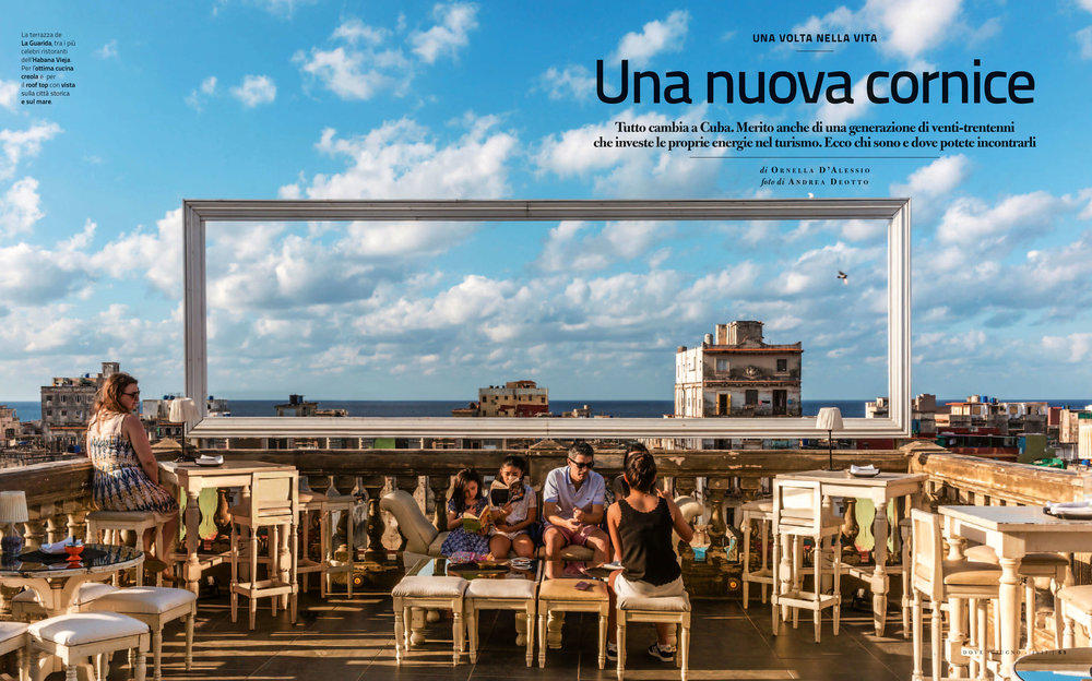 Opening spread of the reportage on Cuba